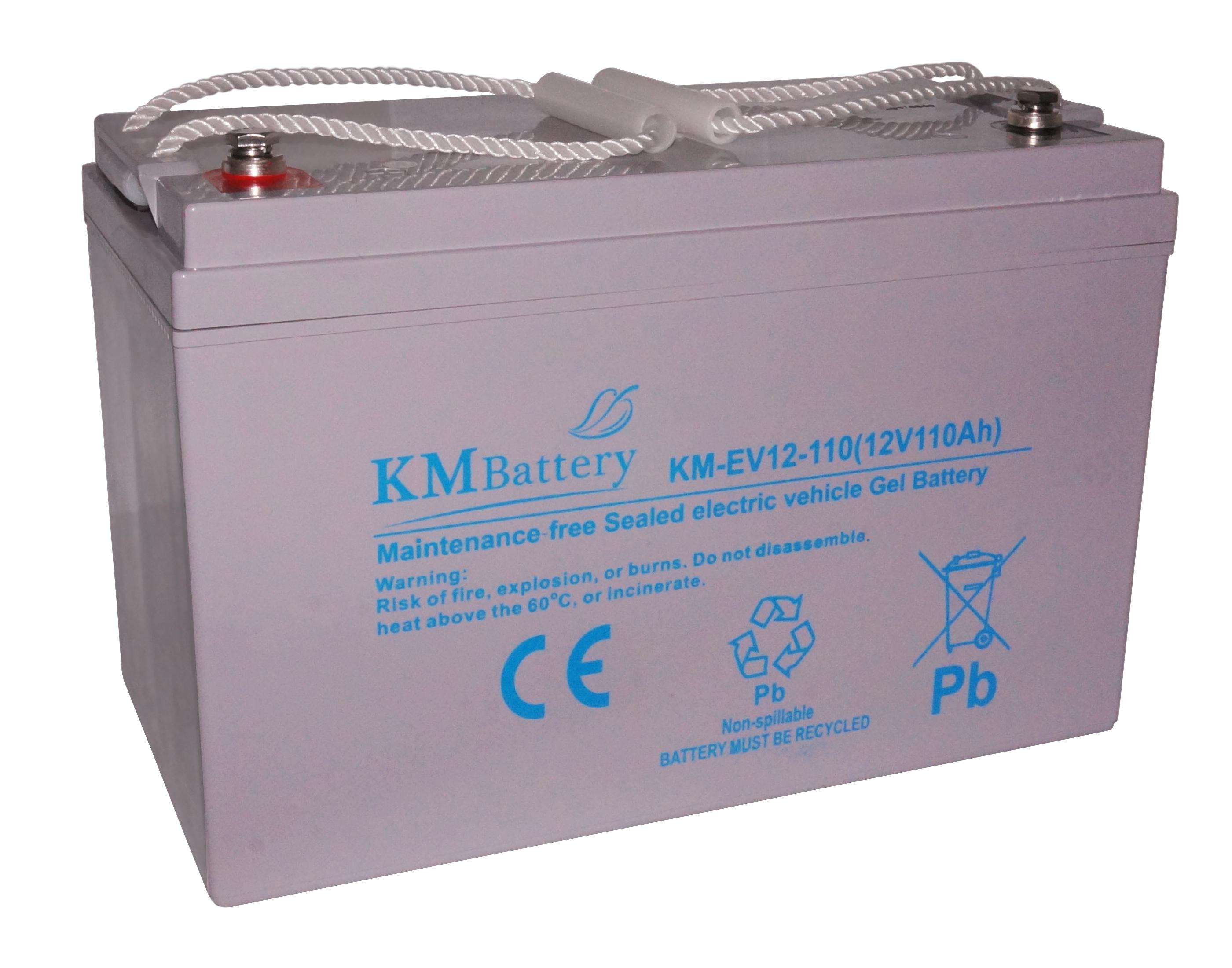 Oryginał Akumulator żelowy KM Battery EV110 Ah 12V do pojazdów OS57